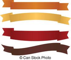 Banner ribbon scroll scroll shape vector decoration clip Vector.