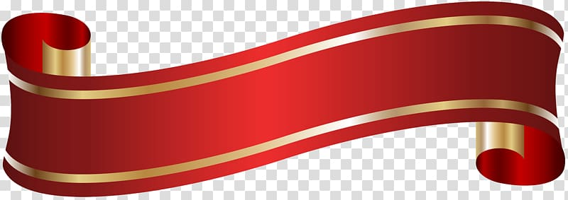 Red scroll ribbon illustration, Red Angle Font, Elegant.