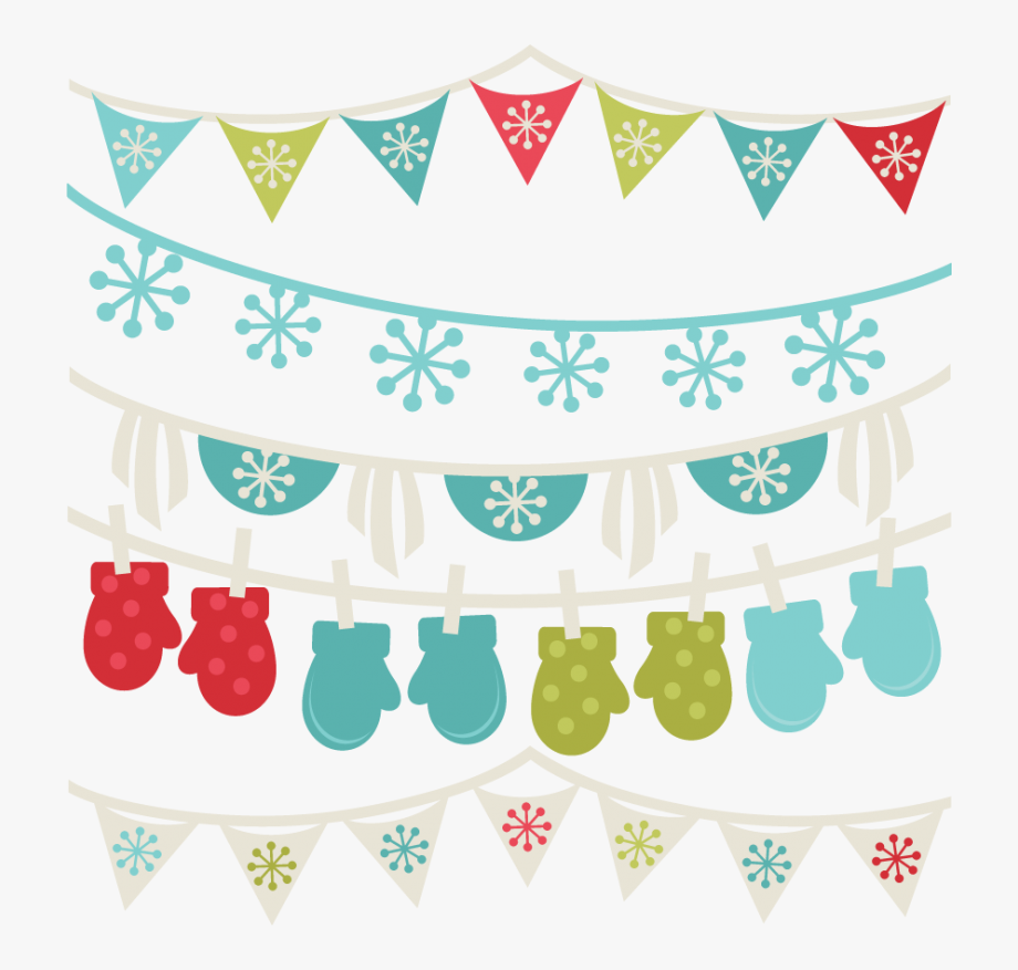 Free Winter Borders Banners Cut Files Cuts.
