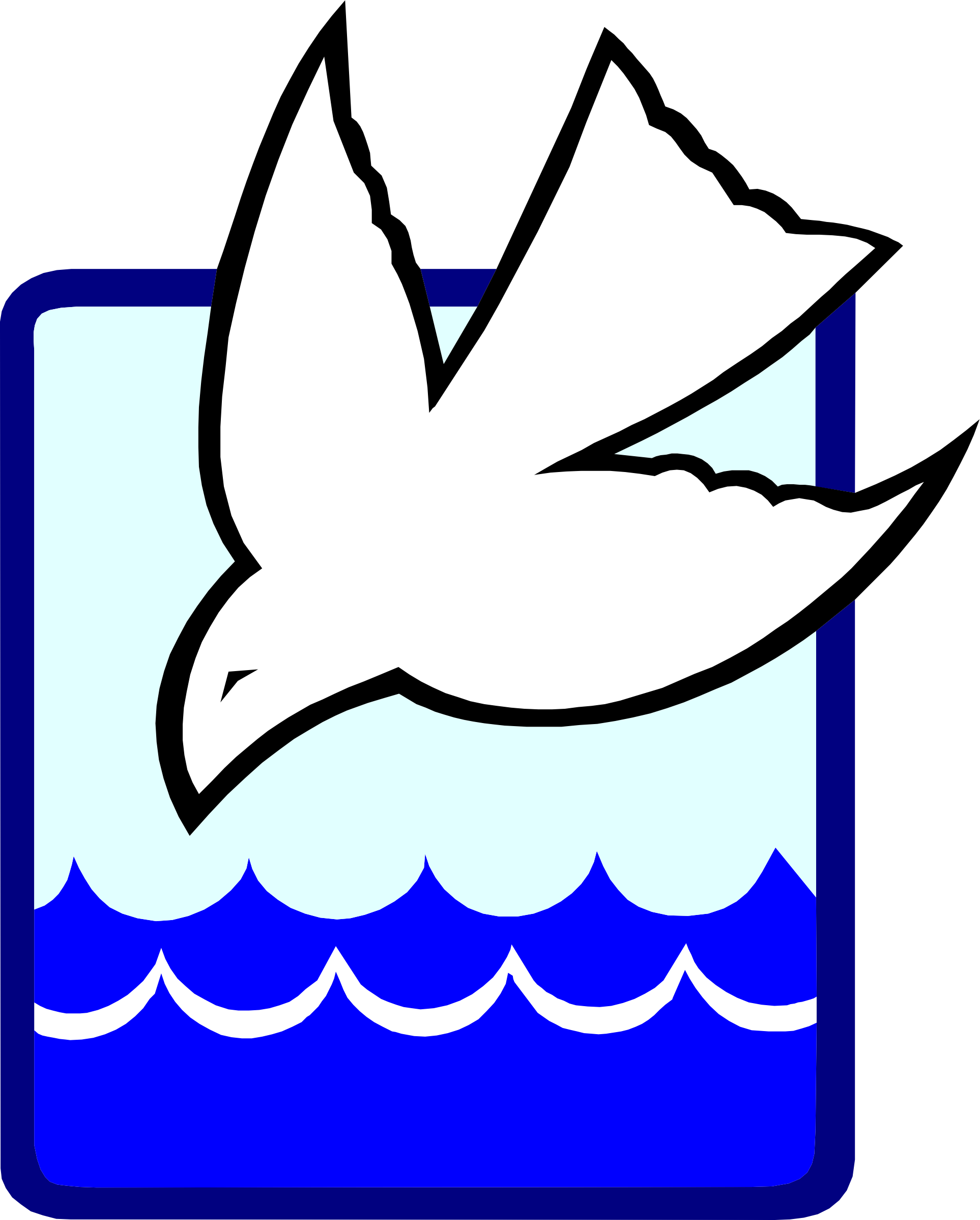 Dove into the Baptism Waters vector clipart image.