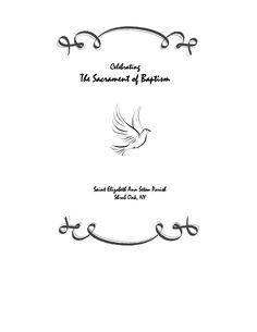 Catholic Baptism Symbols Clipart.