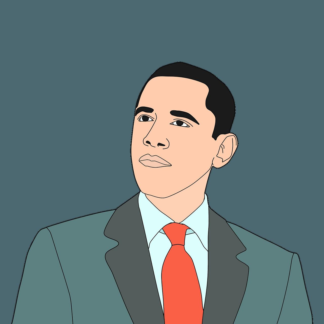 Barak Obama clipart. Free download..
