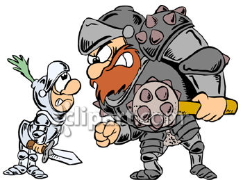 Barbarian and knights clipart image.
