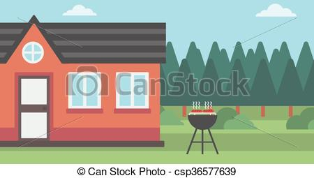 Clipart barbecue house.