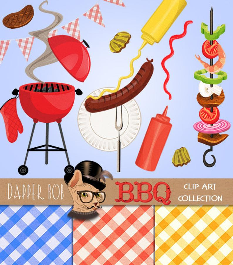 BBQ Party Clip Art Collection.