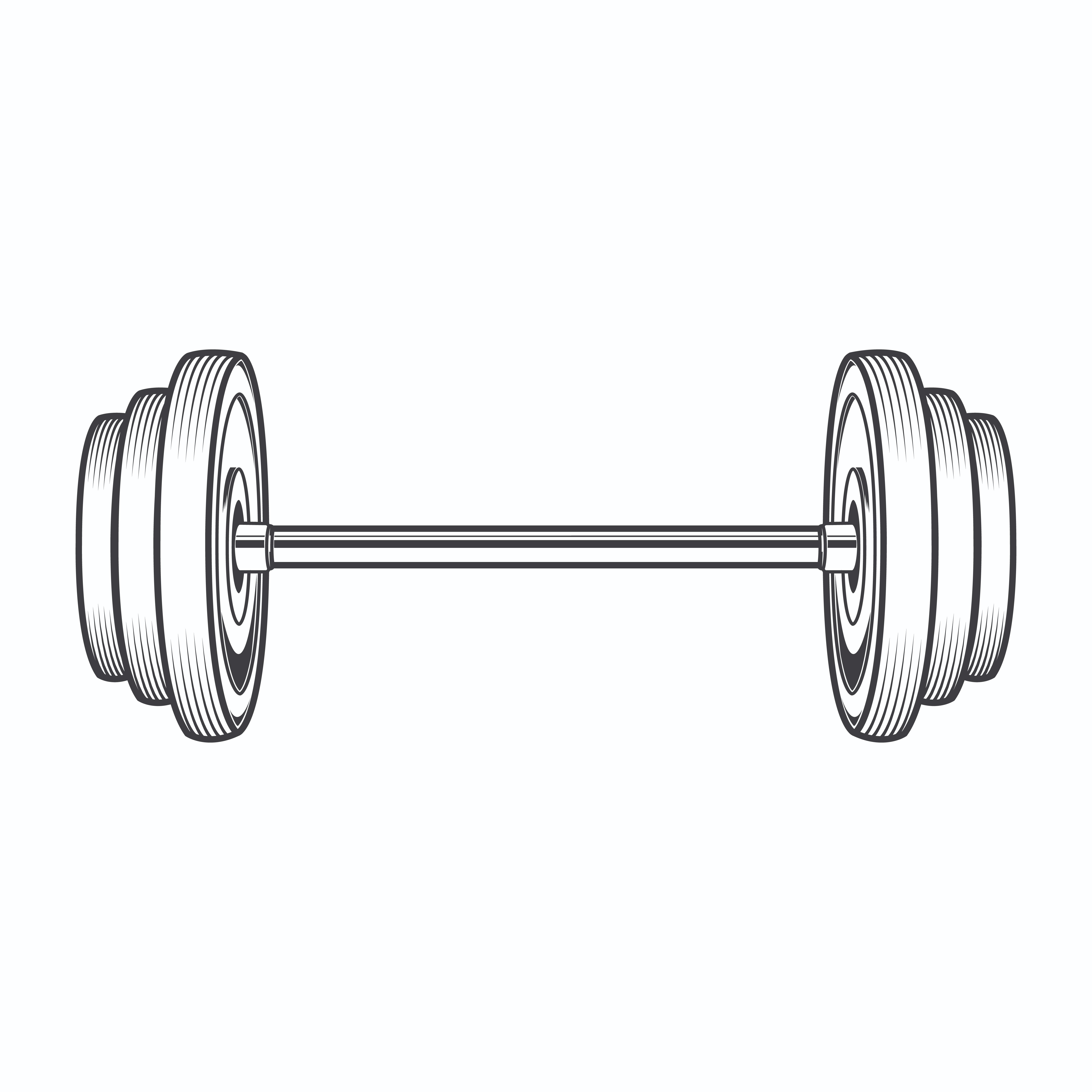 Free Clipart Barbell.