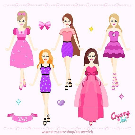 Barbie dolls clipart » Clipart Portal.