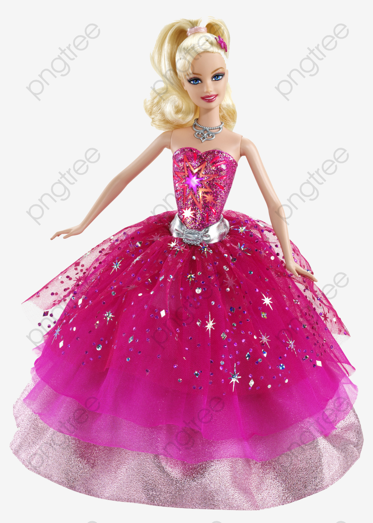 Pink Cute Barbie Dolls, Cute Clipart, Barbie Doll, Pink PNG.