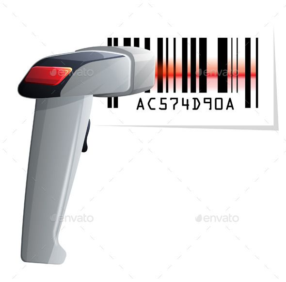 Barcode Scanner Illustration as an EPS 10 File.