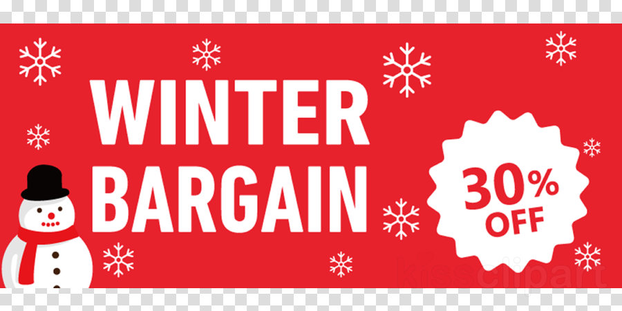 Winter Sale Winter Bargain Promotion clipart.