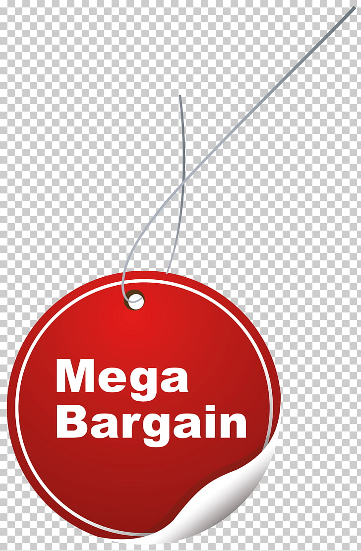 Label , Mega Bargain Label , mega bargain hang tag PNG.