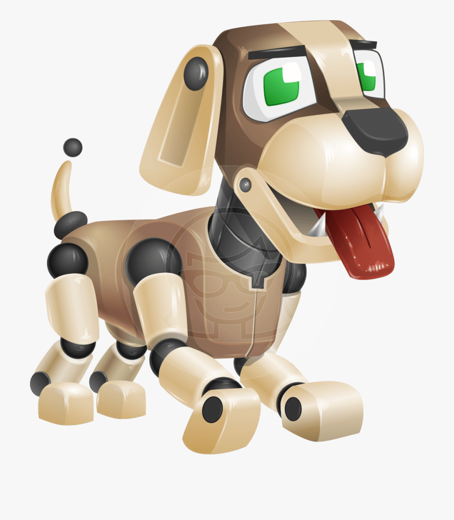 Barkey Is A Robot Dog Character With A Typical Doggy.