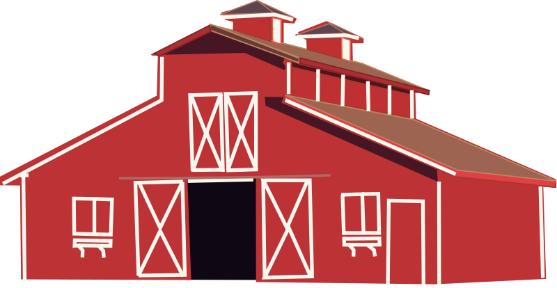 Free Clipart: Red barn.