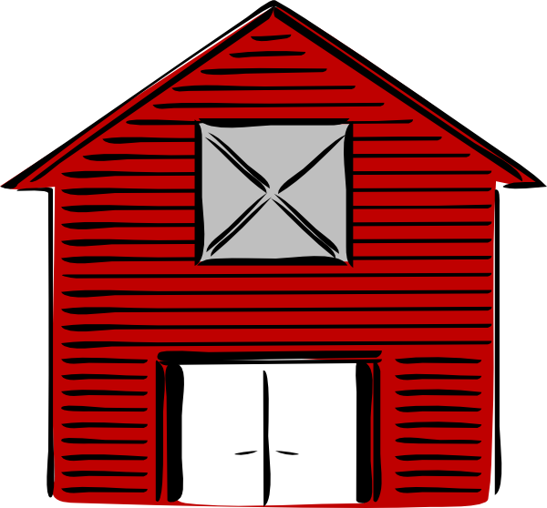 Barn Clipart Black And White.