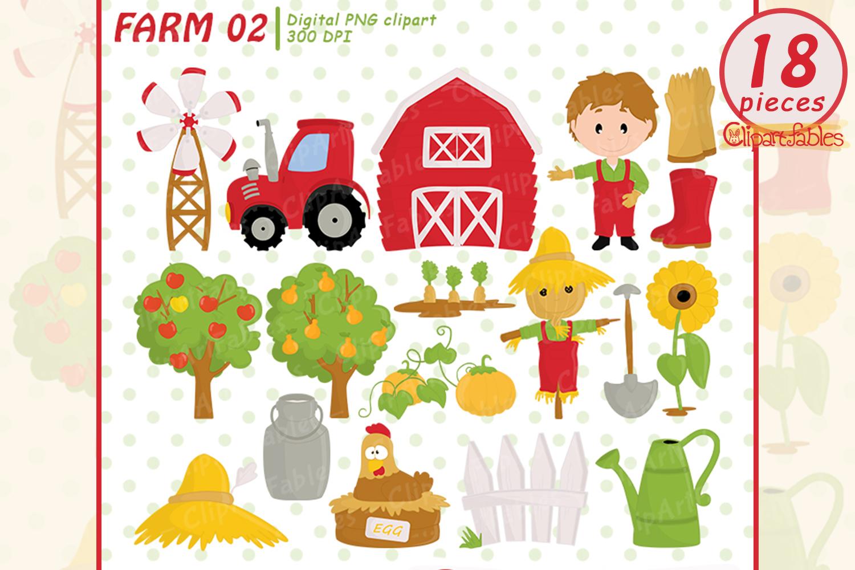 Farm clipart, barnyard clip art, Old Macdonald had a farm.