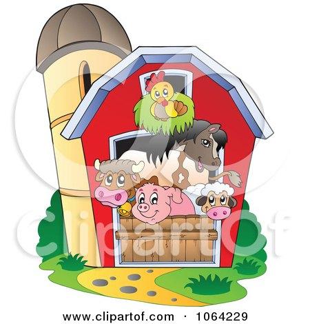 Clipart Barnyard Animals In A Barn.