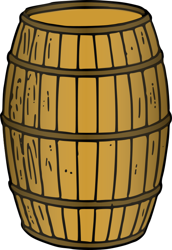 Free Clipart: Barrel (rendered).