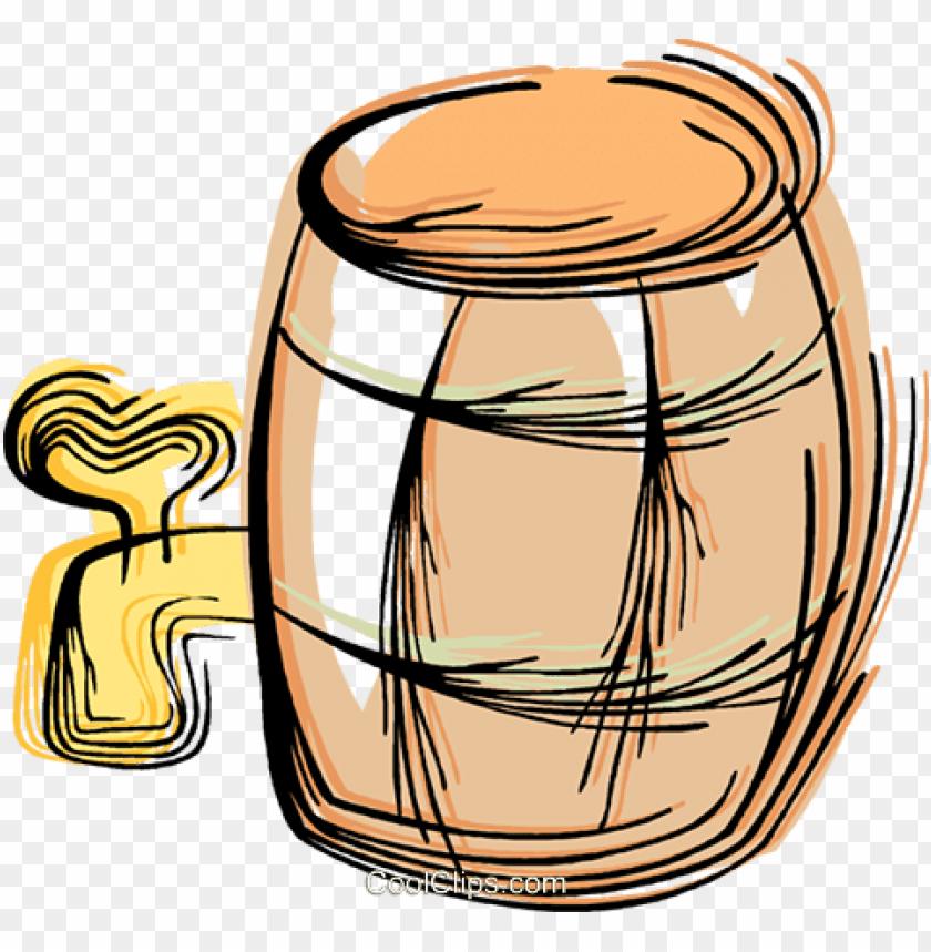 barrel of beer royalty free vector clip art illustration.