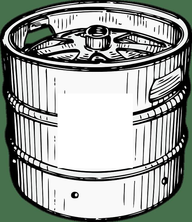 Barril de Cerveza Clipart PNG transparente.