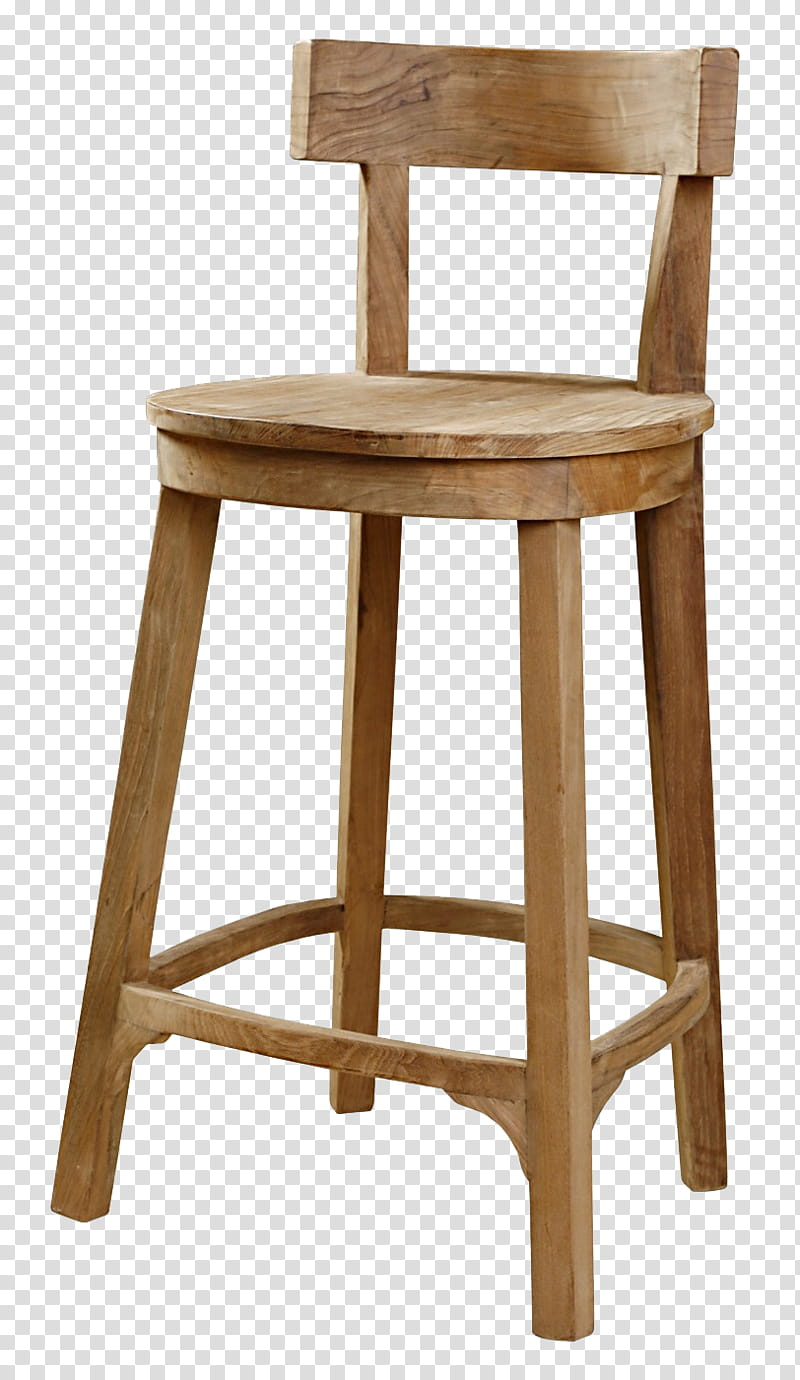 Brown wooden bar stool transparent background PNG clipart.