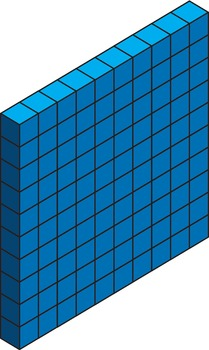 Isometric MAB block / base 10 blocks clip art.