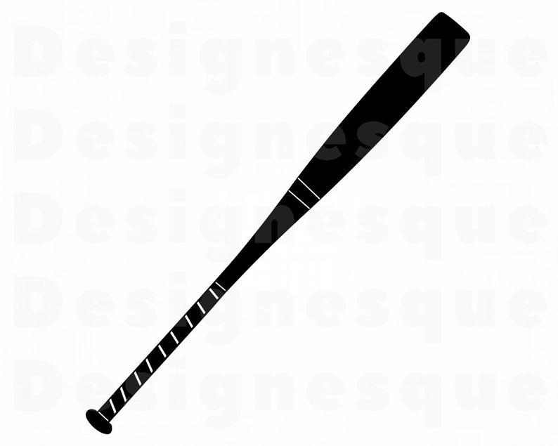Baseball Bat #2 SVG, Baseball SVG, Baseball Bat Clipart, Baseball Bat Files  for Cricut, Baseball Bat Cut Files For Silhouette, Dxf, Png, Eps.
