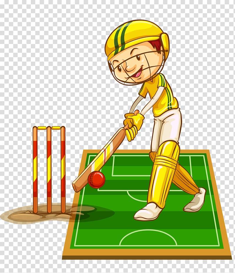 Cricket bat Cricket nets , cartoon hand painted school.