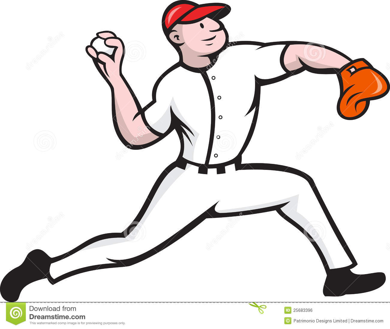 Baseball Pitcher And Catcher Clipart.