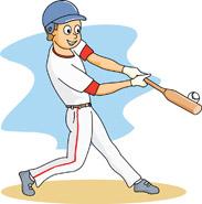 Playing Baseball Clipart.