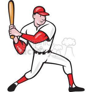 baseball player batting side kneel clipart. Royalty.