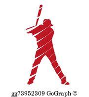 Baseball Player Clip Art.