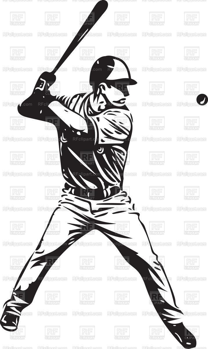 Illustration of baseball player playing Stock Vector Image.