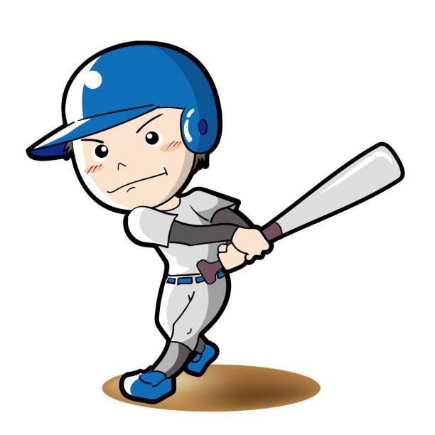 Swinging Baseball Player.