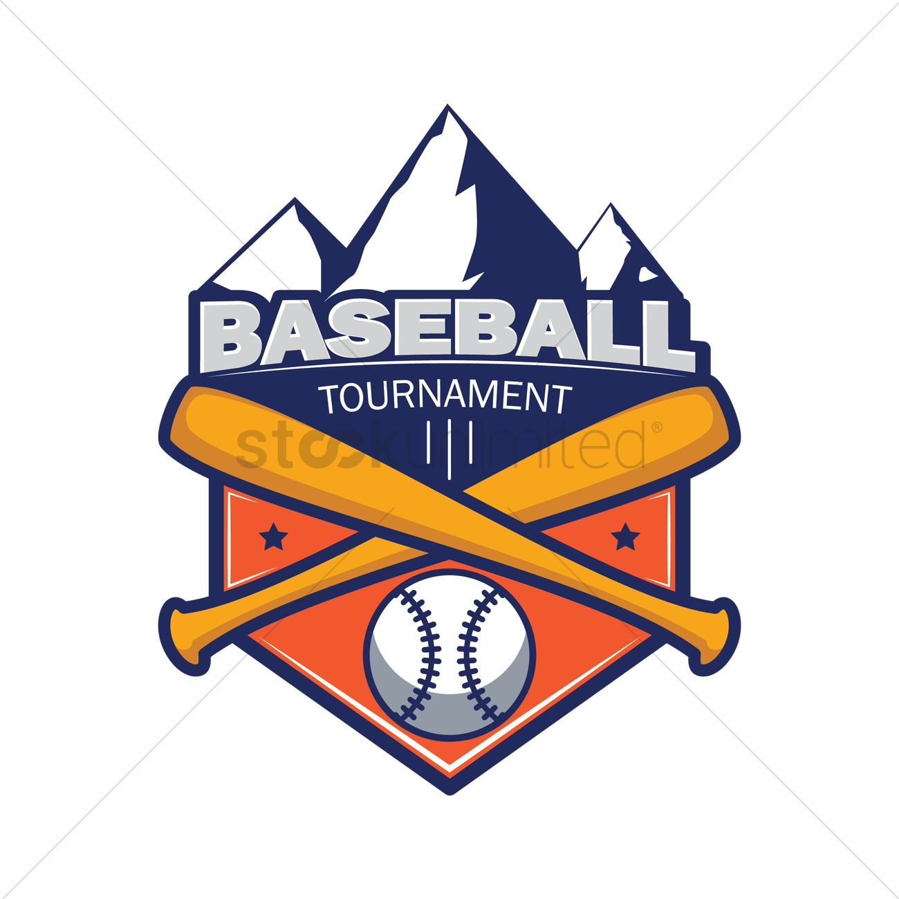 Baseball tournament badge Vector Image.