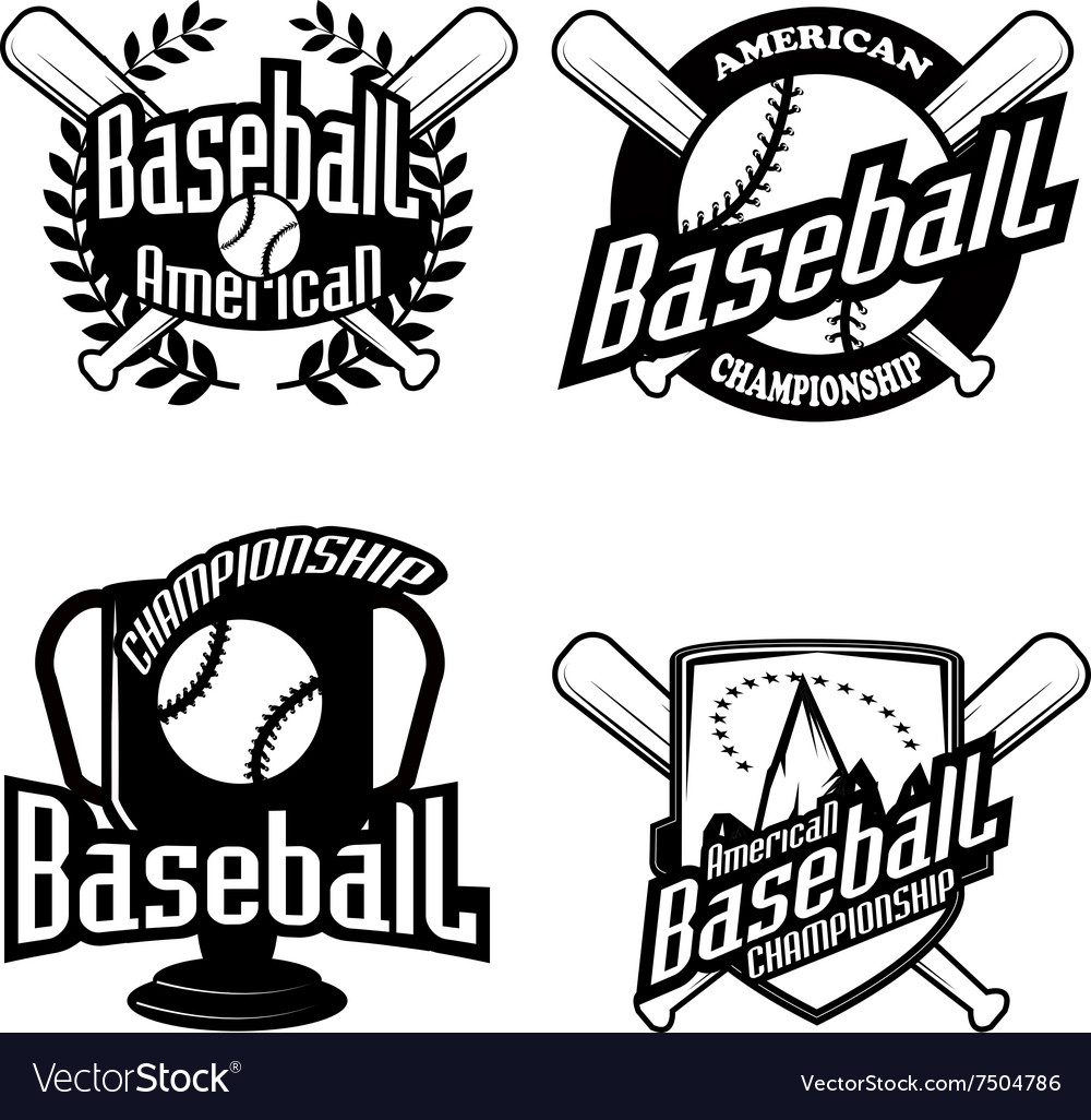 Baseball tournament professional logo.