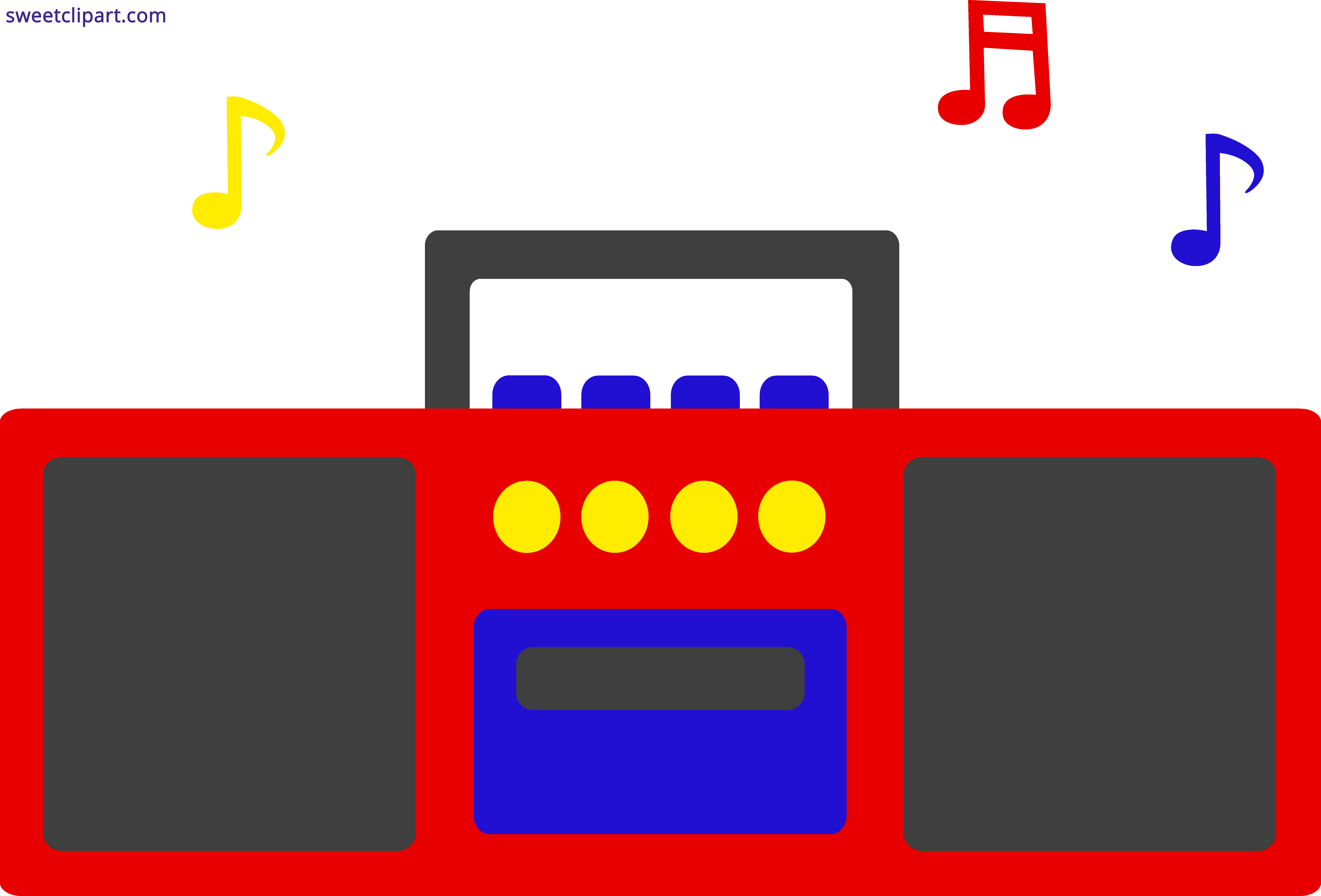 Radio Music Notes Clipart.