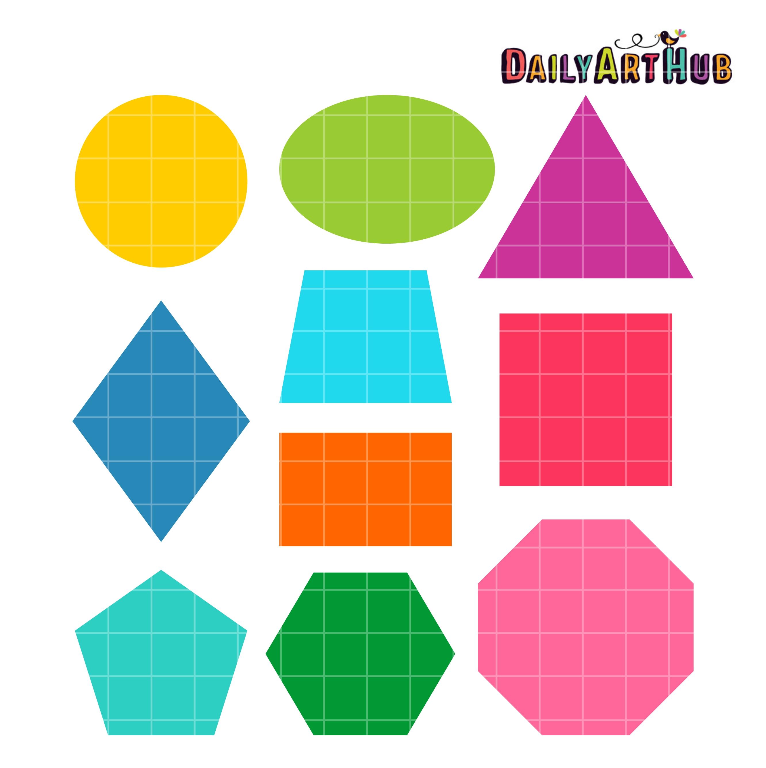 Basic Shapes Clip Art Set.