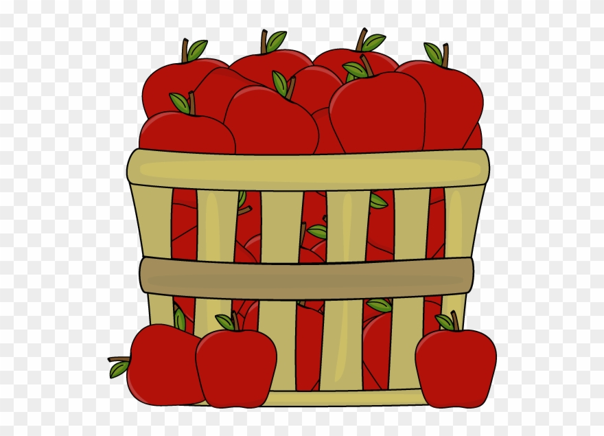 Clipart Of Few, Apple And Baskets.