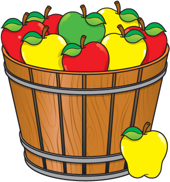 Basket of apples clipart 4 » Clipart Station.