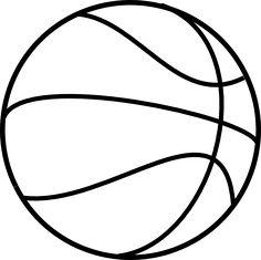 Basketball Clipart Bw.