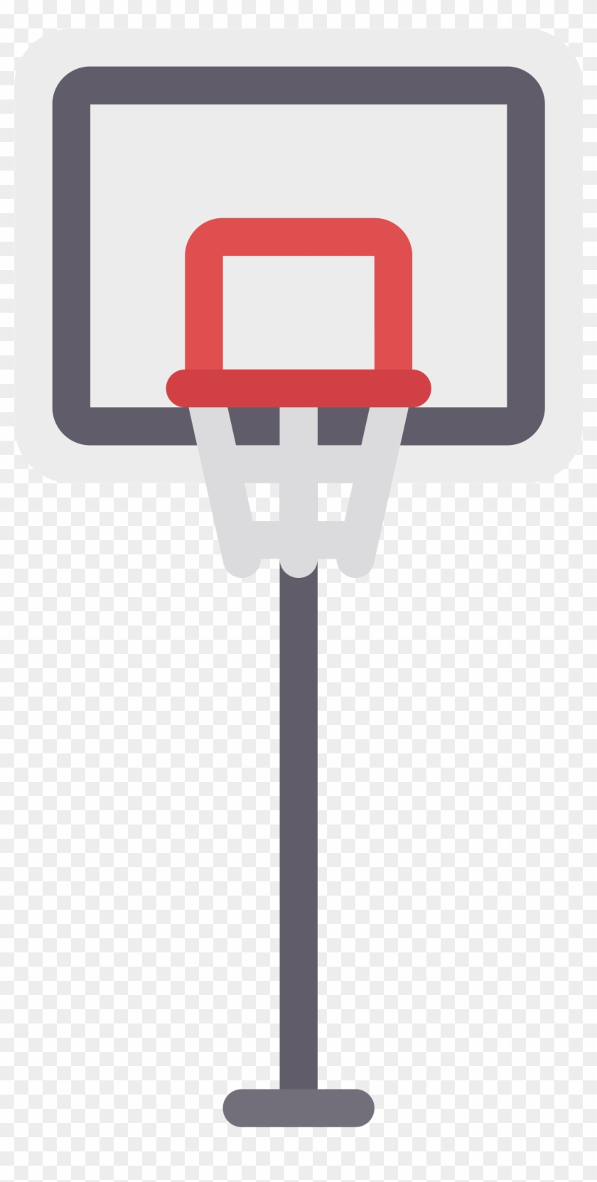 Rectangle Backboard Basketball Hoop Clipart.