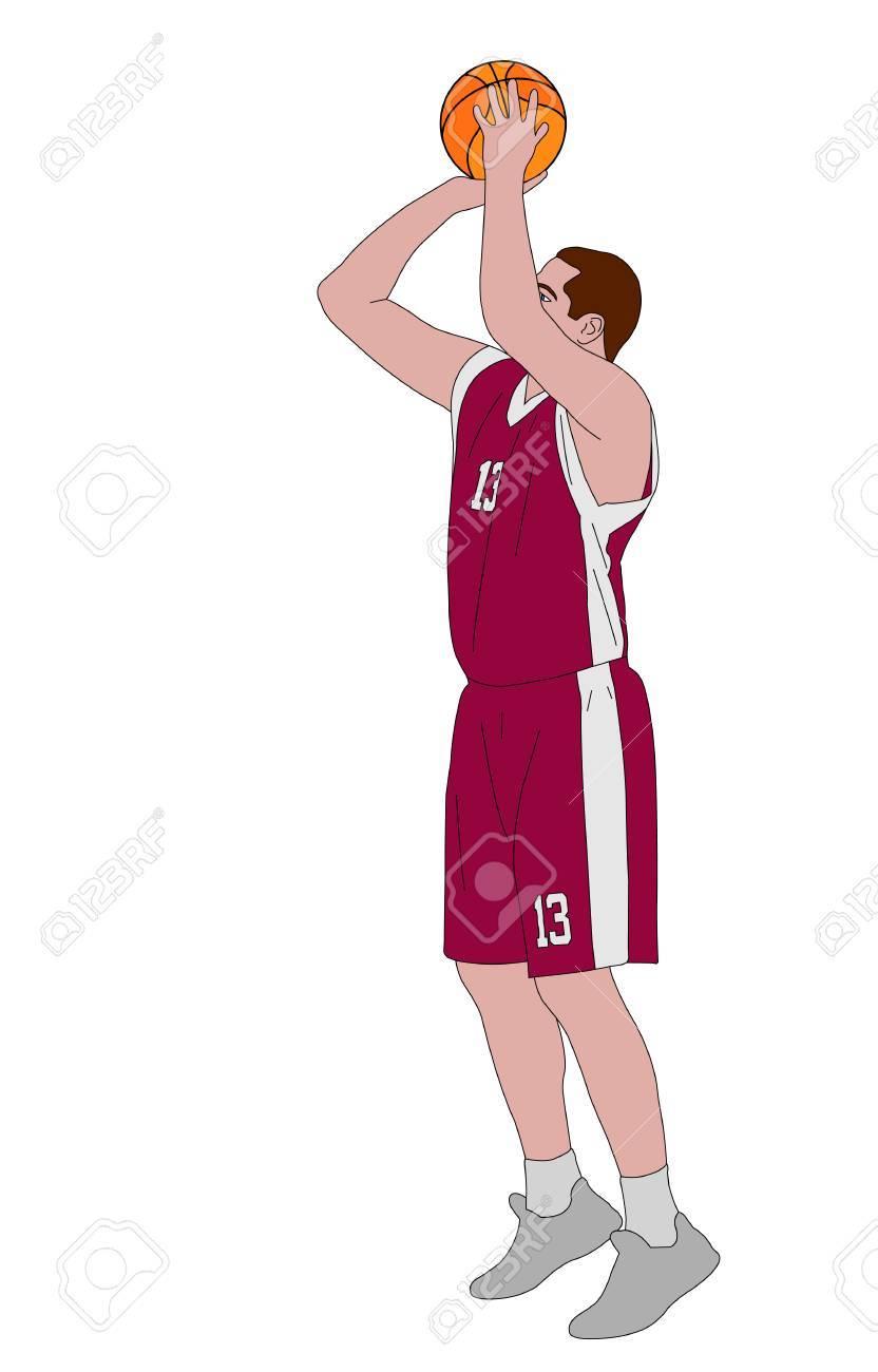 basketball player shooting free throw.