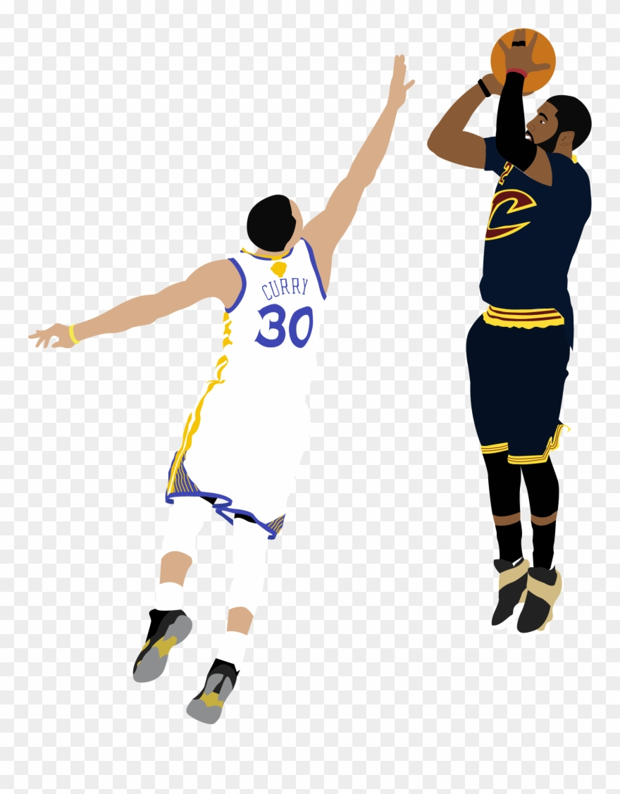 Illustration Of Nba Player Kyrie Irving Shooting A.