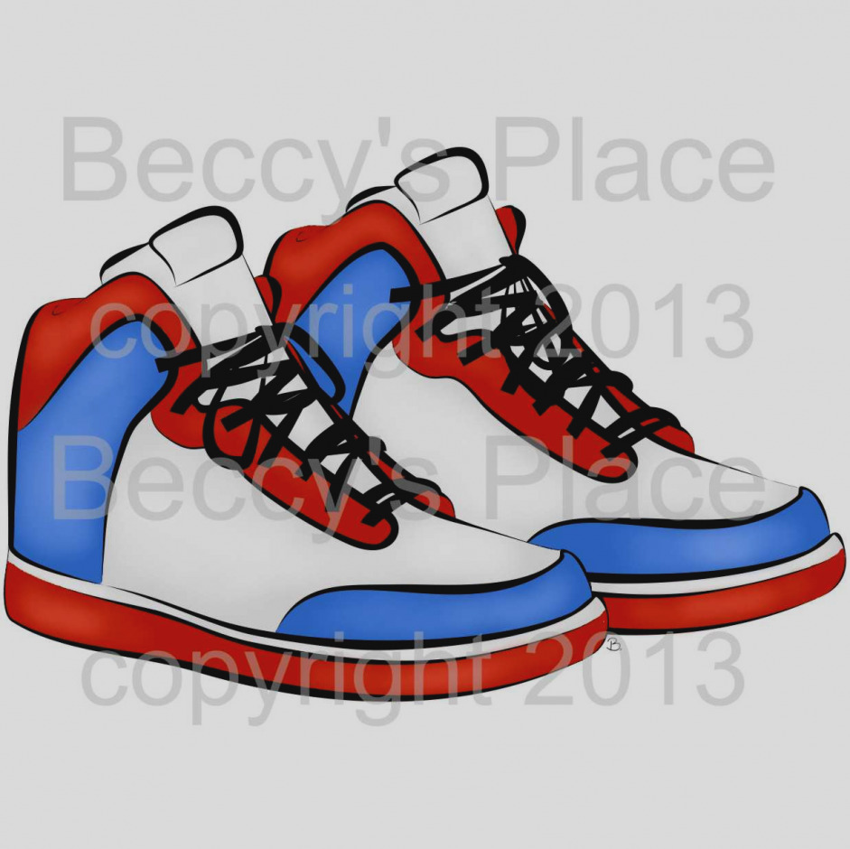 Basketball shoes clipart 1 » Clipart Station.
