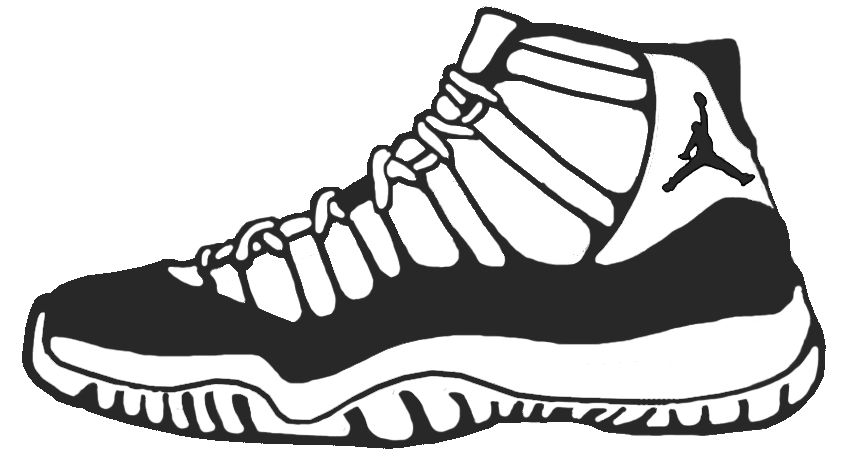 Clipart Basketball Shoes.