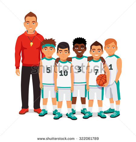 Basketball Team Stock Images, Royalty.