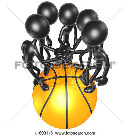 Stock Illustration of Basketball Team k1603176.