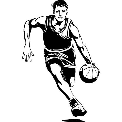 Basketball team clipart.