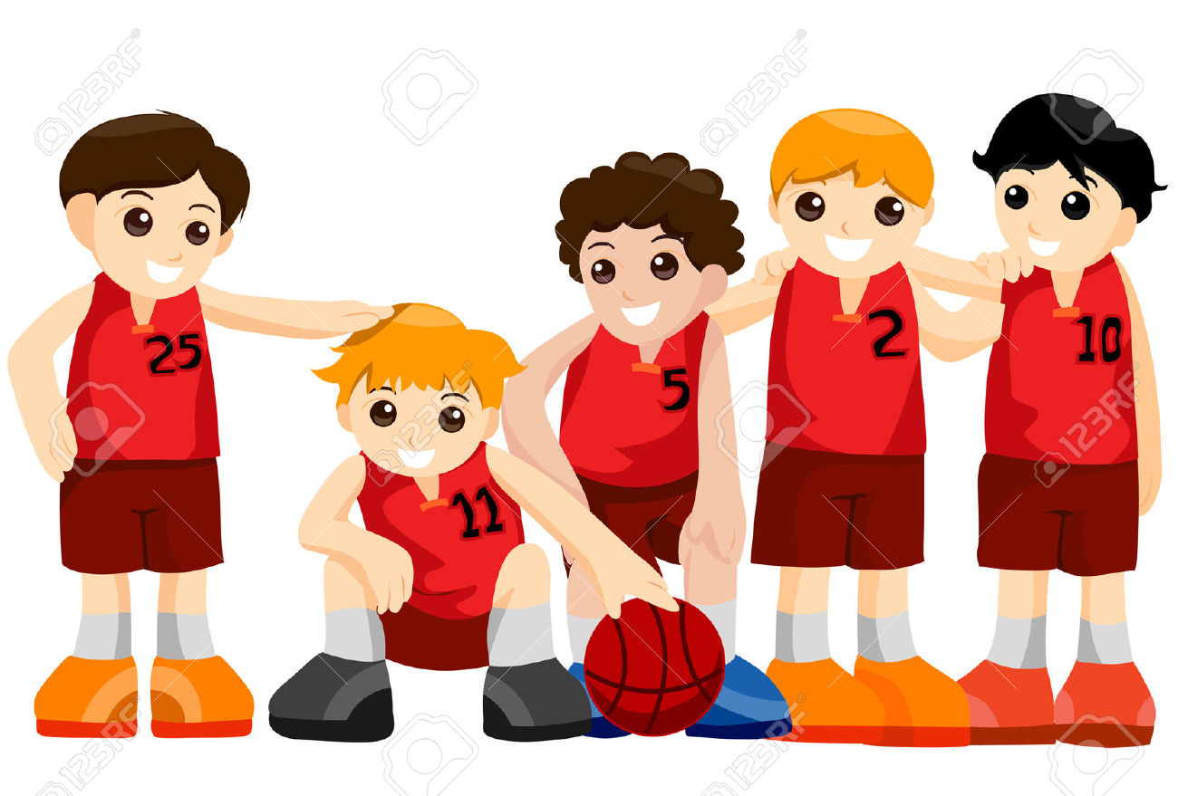Basketball Team With Clipping Path Royalty Free Cliparts, Vectors.