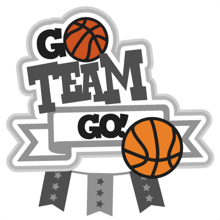 Basketball Team Go Clipart.